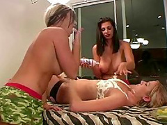 Boobbied lesbianss decided to seduce me with their new